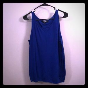 Women's Round Neck Sweater Tank Blue Size L